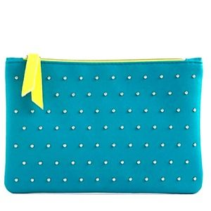 IPSY 100th Glam Bag Turquoise studded Neon accents